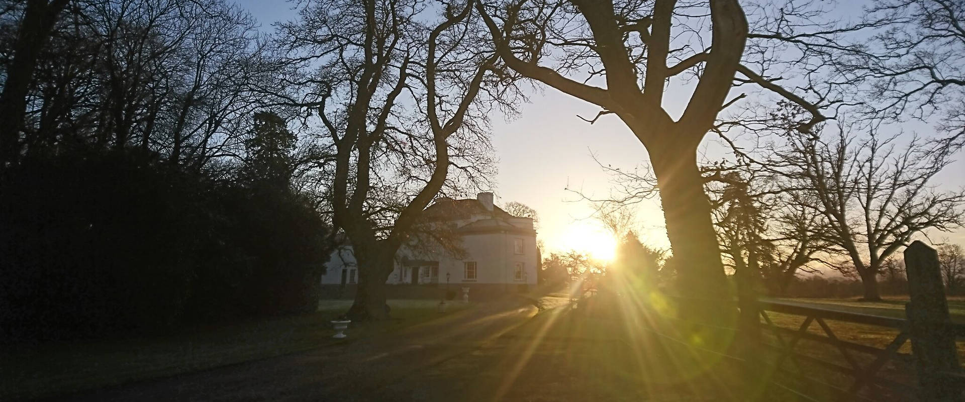 Morning sun on Leixlip Manor House